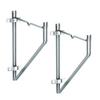 Metro 12WB1C 12 inch x 10 3/4 inch Erecta Shelf Wall Mount Brackets - 2/Pack