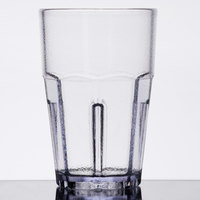 GET 9911-CL Bahama 10 oz. Clear Break-Resistant Plastic Pebbled Tumbler - 72/Case
