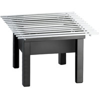Cal-Mil 1409-12-13 One by One Black Chafer Griddle - 12 inch x 12 inch x 7 inch