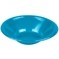 Creative Converting 28313151 12 oz. Turquoise Plastic Bowl - 240/Case