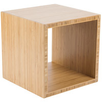 Cal-Mil 1929-12-60 Bamboo Cube Riser - 12 inch x 12 inch x 12 inch