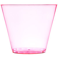 Fineline Savvi Serve 409-RD 9 oz. Squat Neon Red Hard Plastic Tumbler - 20/Pack