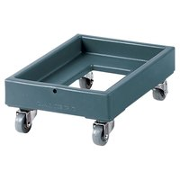Cambro CD1420401 Slate Blue Camdolly Milk Crate Dolly 16 inch x 22 inch - 350 lb.