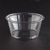 Fabri-Kal Alur RD5 5 oz. Customizable Clear PET Plastic Round Deli Container 1000 / Case
