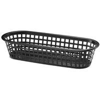 Tablecraft 1018 Black Plastic Fast Food / Loaf Basket   - 12/Pack