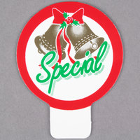 Holiday Bells Deli Tag Topper - SPECIAL - Green, Red, and Gold