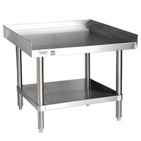 Regency 16 Gauge 30 inch x 36 inch All Stainless Steel Equipment Stand with Undershelf