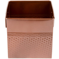 American Metalcraft BEVC655 1/6 Size Copper Square Hammered Beverage Tub - 6 1/4 inch x 5 3/4 inch x 5 3/4 inch