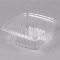 Genpak AD48 8 inch x 8 1/2 inch x 2 1/2 inch 1.5 Qt. Clear Hinged Deli Container - 100/Pack