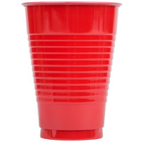 Creative Converting 28103171 12 oz. Classic Red Plastic Cup - 240 / Case