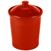 Homer Laughlin 573326 Fiesta Scarlet Large 3 Qt. Canister with Cover - 2 / Case