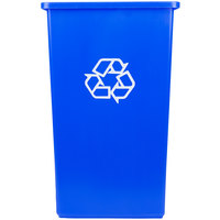 Continental 25-1 SwingLine 25 Gallon Blue Square Recycling Container
