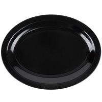 Carlisle KL12703 Kingline 12 inch x 9 inch x 1 3/16 inch Black Oval Platter - 12/Case