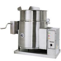 Cleveland KGT-12-TGB Natural Gas 12 Gallon Tilting 2/3 Steam Jacketed Tabletop Kettle - 53,000 BTU