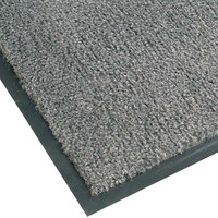 Teknor Apex NoTrax T37 Atlantic Olefin 434-323 3' x 4' Gunmetal Carpet Entrance Floor Mat - 3/8 inch Thick