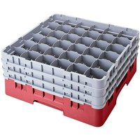 Cambro 36S800416 Cranberry Camrack 36 Compartment 8 1/2 inch Glass Rack