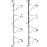 Metro SW36C Super Erecta Chrome Four Level Post-Type Wall Mount End Unit for 18 inch Deep Shelf
