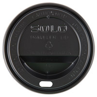 Dart Solo TL38B1-0004 8 oz. Black Plastic Travel Lid - 1000 / Case