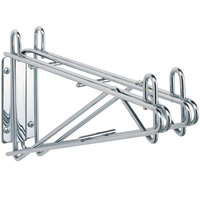 Metro 2WD14C Super Erecta Chrome Double Direct Wall Mount Bracket for Adjoining 14 inch Shelves