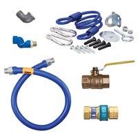 36 inch Dormont 1675BPQSR SwivelMAX Gas Connector Kit with Coiled Restraining Device - 3/4 inch Diameter