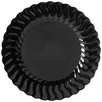 Fineline Flairware 207-BK 7 1/2 inch Black Plastic Plate - 180 / Case