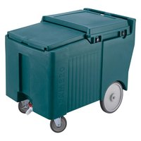 Cambro ICS175LB192 Granite Green Sliding Lid Portable Ice Bin - 175 lb. Capacity