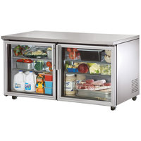 True TUC-60G-ADA 60 inch ADA Height Undercounter Refrigerator with Glass Doors