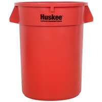Continental 3200RD 32 Gallon Red Huskee Trash Can