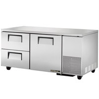 True TUC-67D-2 67 inch Extra Deep Undercounter Refrigerator with One Door and Two Drawers