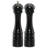 Chef Specialties 10500 Professional Series 10 inch Customizable Imperial Ebony Finish Pepper Mill and Salt Shaker