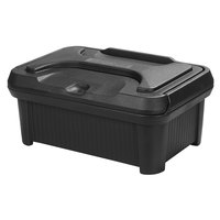 Carlisle XT160003 Cateraide Slide N Seal 20 inch x 12 inch x 6 inch Black Insulated Food Pan Carrier and Sliding Lid Set