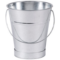 American Metalcraft GP4 Mini Galvanized Pail - 4 3/8 inch