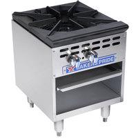 Bakers Pride Restaurant Series BPSP-18-2 Liquid Propane Single Burner Stock Pot Range