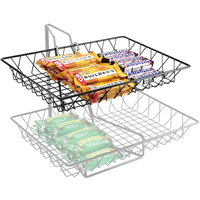 Cal-Mil 1291TRAY Black Wire Tray - 18 inch x 12 inch x 3 inch