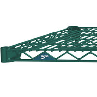 Metro 1436N-DHG Super Erecta Hunter Green Wire Shelf - 14 inch x 36 inch