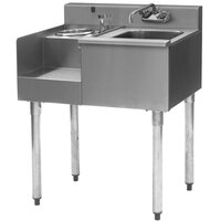 Eagle Group BD24-18L 1800 Series 24 inch Underbar Sink with Left Blender Module