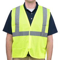 Lime Class 2 High Visibility Surveyor's Safety Vest with Hook & Loop Closure - XL