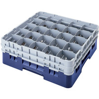 Cambro 25S900168 Camrack 9 3/8 inch High Blue 25 Compartment Glass Rack