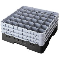 Cambro 36S738110 Black Camrack 36 Compartment 7 3/4 inch Glass Rack