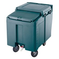 Cambro ICS125L192 Granite Green Sliding Lid Portable Ice Bin - 125 lb. Capacity