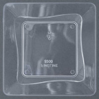 Fineline Tiny Temptations 6200-CL 3 inch x 3 inch Tiny Trays Disposable Clear Plastic Tray 200 / Case