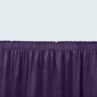 National Public Seating SS16-48 Navy Shirred Stage Skirt for 16 inch Stage - 15 inch x 48 inch