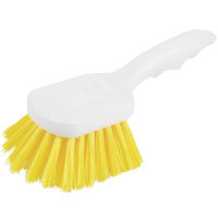 Carlisle 4054104 8 inch Yellow Sparta Spectrum General Clean Up / Pot Scrub Brush