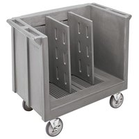 Cambro TDC30180 Light Gray Adjustable Tray and Dish Cart with Vinyl Cover