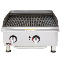 APW Wyott GCB-36i Champion Radiant 36 inch Charbroiler with 2 Safety Pilots - 120,000 BTU