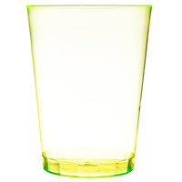 Fineline Savvi Serve 410-Y 10 oz. Tall Neon Yellow Hard Plastic Tumbler 500 / Case