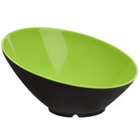 GET B-792-G/BK Brasilia 24 oz. Green and Black Melamine Bowl