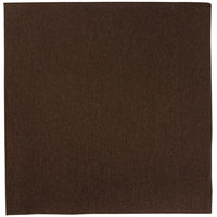 Hoffmaster FashnPoint 15 1/2 inch x 15 1/2 inch Brown 1/4 Fold Linen-Feel Dinner Napkin - 800/Case