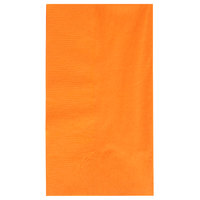 Choice 15 inch x 17 inch Orange 2-Ply Paper Dinner Napkin   - 125/Pack