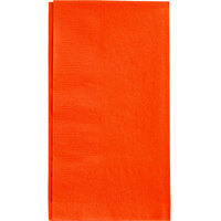 Choice 15 inch x 17 inch Orange 2-Ply Paper Dinner Napkins - 125 / Pack